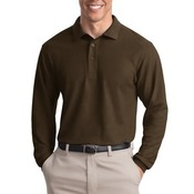 Long Sleeve Traditional Pique Polo